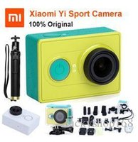 Wholesale action electronics online - Original Xiaoyi Sports Camera Xiaomi yi WiFi Action Mi Sport Camera MP FPS WIFI Ambarella Bluetooth Waterproof Smart Cam Free DHL