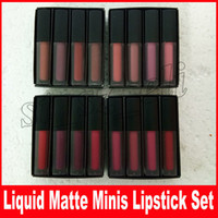 Wholesale nude pink lip color for sale - Group buy Liquid Lipstick Kit The Red Nude Brown Pink Edition Mini Liquid Matte Lipstick set lip gloss x ml