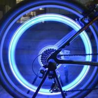 noite, carro, iluminação, néon venda por atacado-Nova lançado Luzes Da Roda Da Bicicleta Crânio Mix LED Flash de Luz Neon Lâmpada Da Noite Da Bicicleta Pneu de Carro Pneu Válvula de Roda Tampas de Bicicleta Luzes
