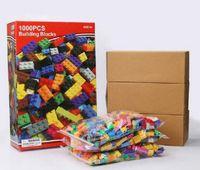 bildungsspielzeug für kinder großhandel-5 satz modelle 1000 stücke diy bausteine kreative bildung ziegel spielzeug für kinder diy montieren block ziegel kinder geschenke