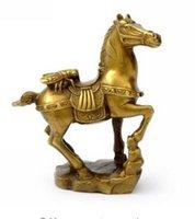 ingrosso mini artigianale luce-apertura luce mini statua fortunato benedizione buona fortuna mascotte rame pregare benedica figurina cavallo Vinci subito statuina regalo artigianato