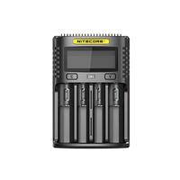 slots usb venda por atacado-Nitecore UM4 Carregador Inteligente USB Four-Slot Display LCD Carregador Para 18650 20700 21700 26650 IMR Bateria Li-ion