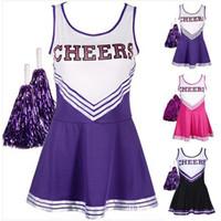 garota uniforme erótica venda por atacado-Feme Fancy Dress Costume Cheerleader Trajes Meninas Cheerleader Uniforme Da Menina Da Escola roupas cosplay Erotic Momo Shiina Sports Team