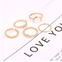 c3ab6ddd3b Brief 5pcs set CZ Crystal Midi Rings for Moon Charms Rings Wedding Party  Punk Jewelry valentines day gift anel