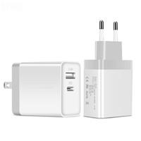 ingrosso caricabatteria da parete dual usb uk-EU standard USB Adapter USB 5V Wall Charger veloce caricatore doppio del usb di uscita di tipo C con la spina degli Stati Uniti Regno Unito UE per l'iPhone Samsung