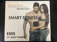 almohadillas de estimulación muscular al por mayor-Estimulador ABS Smart Fitness Abdominal EMS Estimulación muscular eléctrica Músculo Ejercitador Cinturón Fat Burner Masajeador Body Slimming Pad 40set