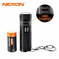 Wholesale mini black light flashlight keychain - Nicron 3w Mini Led Flashlight Keychain Torch Usb Light Waterproof Led Usb Rechargeable Lamp 3 Modes Torch Lamp For Hunting Black