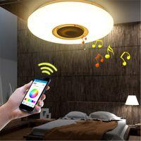 farbe wechselnde deckenleuchten großhandel-Musik-LED-Deckenleuchte mit Bluetooth-Steuerung Farbwechsel Beleuchtung Unterputz Smart LED-Lampe für Schlafzimmerdeckenleuchten