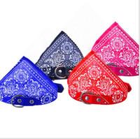 Wholesale small dog bandana collar for sale - Pet Collars Dog Collars Adjustable Pet Dog Cat Bandana Scarf Collar Neckerchief Brand New Mix Colors