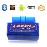 obdii bluetooth bmw venda por atacado-Novo OBD V2.1 mini ELM327 OBD2 Bluetooth Auto Scanner OBDII 2 Carro ELM 327 Tester Ferramenta de Diagnóstico para Android Windows Symbian