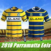 Wholesale Rugby Shirts Cheap - 2018 NEW COMING Parramatta Eels Rugby Jersey All Blacks Shirt Teams Sport Free Shipping Hot Sale Wholesale Cheap Jerseys present gift