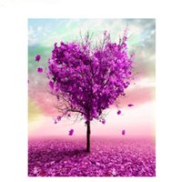 Wholesale tree life abstract hand - Frameless DIY Oil Painting By Numbers Hand Painted Modern Wall Canvas Painting Picture For Living Room(A heart shaped tree )
