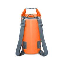 çift kurutulmuş toptan satış-15L 20L Açık Su Torbası Çift Omuz Askısı Sırt Çantası Yüzme Trekking Su Geçirmez Çanta Kuru Kayaking için Kuru Organizatörler