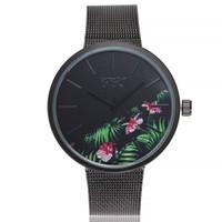 relojes antiguos pulsera pulsera al por mayor-Pulsera de las mujeres antiguas relojes de cuarzo ocasional banda de acero inoxidable correa de mármol relojes analógico reloj de pulsera señoras reloj _STH