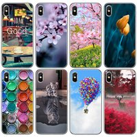 Wholesale animal cases for iphone 4s - Beautiful Scenery Patterned Soft TPU Cover Phone Case for iPhone 8 X 6 6s 7 Plus 5 5S SE 5C 4 4S Cute Animal Painting Shell