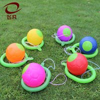 Wholesale kids jump ball - Children Adult Bouncing Balls Novelty Revolving Jumping Ball Puzzle Gift For Kid Color Fun Jump Ring 2 5ff W