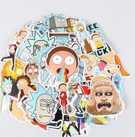 Wholesale Car Trunk Luggage - 35Pcs Drama Rick And Morty Stickers Decal For Snowboard Laptop Luggage For Luggage Skateboard Phone Laptop Moto Trunk Guitar Car DIY Sticker