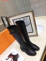botas de couro lisas altas venda por atacado-A nova moda Hot new mulheres designer tideway shoes senhoras Botas planas fábrica de couro Alto botas femininas canister boots