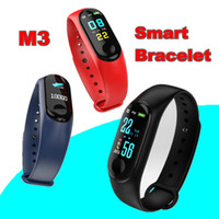 Wholesale M3 Waterproof Health Activity Fitness Tracker Color Screen Sport Smart Watch with Heart Rate Blood Pressure Sleep Monitor pk XIAOMI fitbit