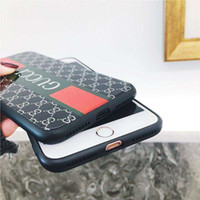 Wholesale cellphone glasses - 2018 Newest Toughened Glass+TPU Cellphone Case Luxury Brand Mobile Phone Protection Cover Case for Iphone X 6 7 8 Plus