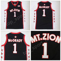 Wholesale fan goods - Men College 1 Tracy McGrady T-Mac Basketball Jerseys Cheap Christian MT.ZION Jersey For Sport Fans Embroidery Breathable Good Quality