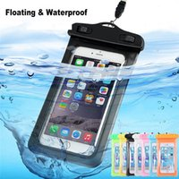 Wholesale Cheapest Waterproof Phone Bag Pouch Cellphone Case Dry Bag With Strap For iPhone XR XS Plus S Huawei Samsung inch Swimming Diving