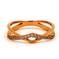 женщины с двойным крестом оптовых-designer jewelry rings for women titanium steel double W cross cool Punk open rings hot fashion free of shipping
