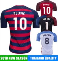 Wholesale footballs johnson - 2018 United Soccer Jersey home away#10 PULISIC 8 DEMPSEY 18 WOOD 23 JOHNSON calcio fútbol football world cup russia away HOT shirts
