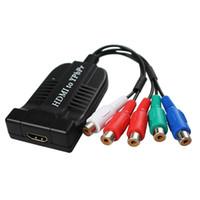 hdmi ypbpr adapter großhandel-heißer verkauf HDMI zu RGB Komponente (YPbPr) Video + R / L Audio Adapter Konverter für HD TV PS3