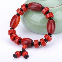 ingrosso pietre del chakra rosso-Bracciale Chakra in pietra naturale Uomo Bracciale con perle di agata rossa Bracciale di equilibrio di guarigione Buddha Reiki Yoga per il regalo delle donne