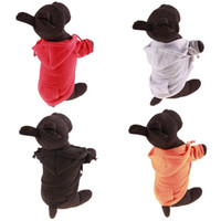 Wholesale pet clothing dropshipping online - Casual Fleece Pet Clothes Sweatshirt Hoodie Small Dog Clothing Solid Cat Products Apparel Button Puppy Coat Free Dropshipping