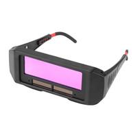 mercek kaynakçı toptan satış-WALFRONT Güneş Otomatik Kararan Kaynak Kask Gözler Koruyucu Kaynakçı Kap Gözlük Makinesi Kesici Lehimleme Maskesi Filtre Lens Araçları