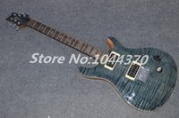 neue klassische gitarre groihandel-New Classical Beautiful P - Reed Smith Private Stock SingleCut Charcoal Burst E-Gitarre grünlich schwarz