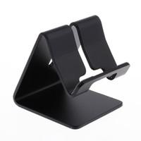 tischplatten-tischständer großhandel-2 Stück Universal Desktop Handy und Tablet Aluminium Ständer Halter Packable Halterung Schwarz + Rot