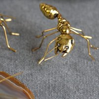 Wholesale copper craft art for sale - Group buy Lawn Vintage Copper Gold Ornaments Ant Super Cute For Home Office Art Craft Gifts Miniature Fairy Garden Home Decoration