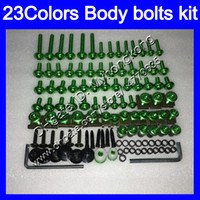 Wholesale Yellow Zx6r Fairing - Fairing bolts full screw kit For KAWASAKI NINJA ZX6R 13 14 15 16 ZX-6R 6 R ZX 6R 2013 2014 2015 2016 Body Nuts screws nut bolt kit 23Colors