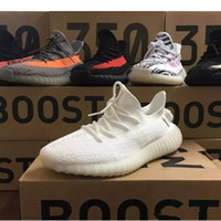 Wholesale Rubber Sole Cowboy Boots - 2018 final Version 350 v2 boost Yebra Semi Frozen With Gum sole,Blue Tint,Red Night, Adidas Yeezy Yeezys Beluga 2.0 boots