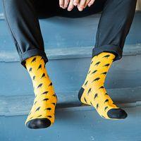 Wholesale wholesale colored socks - 5 Pairs  Lot Cartoon Crow Men Socks Casual Fashion Brand Cotton Sock Cheap Meias Calcetines Hombre Cool Mens Colored Socks Art