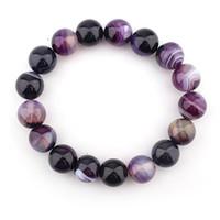 Wholesale bracelets 14mm for sale - Group buy Birthday Gift Trendy Charm Jewelry Transfer Luck Purple Bracelet DIY Chakra Yoga Beads Volcanic Stone mm Beads Bracelet Bangle Women H541F