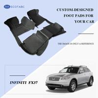 Wholesale rear floor mats - SCOTABC Custom Fit Car Foot Pads All Weather Leather Car Floor Mats for Infiiniti FX37 Waterproof Anti-slip 3D Front & Rear Carpets