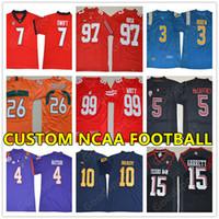 Wholesale custom college shirts - New Custom Jersey Customized Swingman Stitched type Handmade jerseys sport College SW Hot Cheap football shirts embroidery NCAA