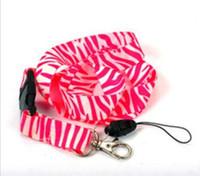 charme de zebra venda por atacado-Correias vermelhas da zebra, suporte de cartão da identificação, correia chave da correia do pescoço, correia do pescoço do telefone
