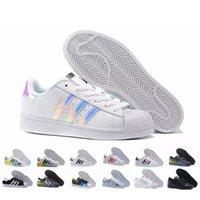 ayakkabısını çalıştırmak toptan satış-2018 YENI Orijinalleri Superstar Beyaz Hologram Yanardöner Junior Süperstars 80 s Pride Sneakers Süper Yıldız Kadın Erkek Spor Koşu Ayakkabıları 36-44