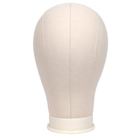 "Wholesale canvas mounting - 21""22""23""24""25"" Canvas Wig Head for Wig Making, Wig Styling, Wigs Display Professional Mannequin Block Head with Mount Hole"