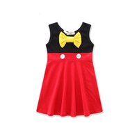 fc29e3a48 Wholesale toddler red cotton dress for sale - Girls Sleeveless Dress Yellow  Bow Red Black Baby