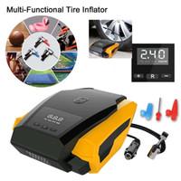 car tire pump оптовых-Портативный автомобильный насос с воздушным компрессором 12V для автомобилей с удлинительным шнуром длиной 3 м с прикуривателем