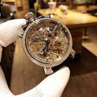 conchas usadas venda por atacado-Moda de luxo relógio personalizado. Usando importado 9211 movimento automático suíço oco. Caixa 316 de aço inoxidável. Corpo do anel shell incrustado nat