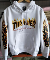 Wholesale Men S Sweaters Skull - Street hip hop fashion brand Palace cotton sweater hooded men and women couples plus color printing trasher letters