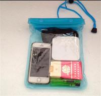 kordon açık durumda toptan satış-Büyük! Evrensel Temizle PVC Su Geçirmez Kılıfı çanta Kılıf Cep Telefonu Şeffaf Kuru çanta Kapak iphone X 7 8 Kordon DHL ile