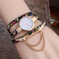 Wholesale clock chain bracelet for sale - Group buy Women s Watch New Fashion Angel Wing Alloy Chain Winding Quartz Watch Flower Bracelets Leather Ladies Female Clock